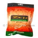 Zen Filter Tips Menthol White 200 Tips Per Bag
