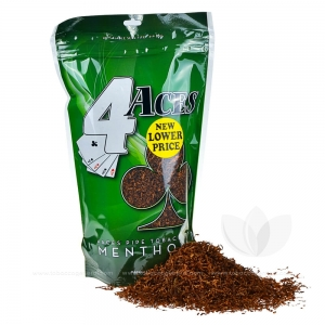 4 Aces Pipe Tobacco Menthol Mint (Green) 16 oz. Pack