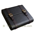 Augustus Leather Travel Humidor Holds 20 Cigars