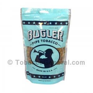 Bugler Blue (Full Flavor) Pipe Tobacco 4 oz. Pack