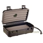 Cigar Caddy 10 Black Travel Humidor Holds 10 Cigars