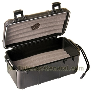 Cigar Caddy 15 Black Travel Humidor Holds 15 Cigars