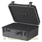 Cigar Caddy 40 Black Travel Humidor Holds 40 Cigars
