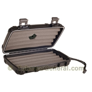 Cigar Caddy 5 Black Travel Humidor Holds 5 Cigars