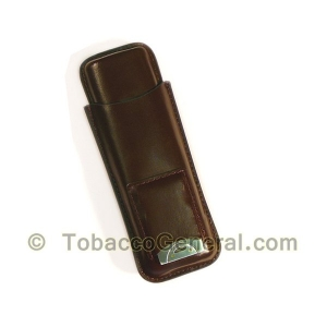 Cigar Case With Cutter Brown