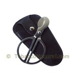 Cigar Scissors With Leather Pouch - Cigar Accessories