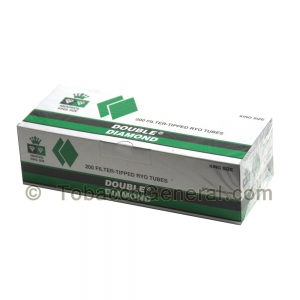 Double Diamond Filter Tubes King Size Menthol 5 Cartons of 200