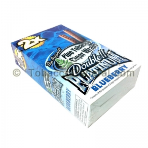 Double Platinum Wraps 2X Blueberry 25 Packs of 2