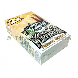 Double Platinum Wraps 2X French Vanilla 25 Packs of 2