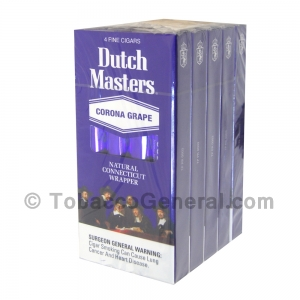 Dutch Masters Corona Grape Cigars 5 Packs of 4