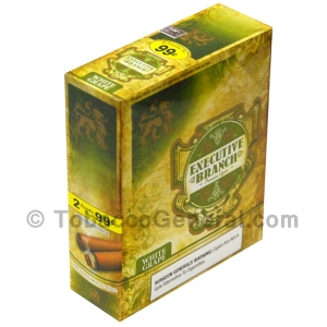 Executive Branch Cigarillos White Grape 15 Packs of 2