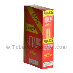 Extendos Cigarillos Fire Fruit Punch Pre Priced 15 Packs of 2
