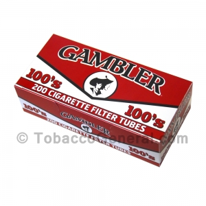 Gambler Filter Tubes 100 mm Full Flavor 5 Cartons of 200