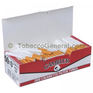 Gambler Filter Tubes King Size Full Flavor 5 Cartons of 200