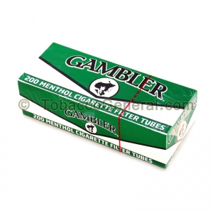 Gambler Filter Tubes King Size Menthol 5 Cartons of 200