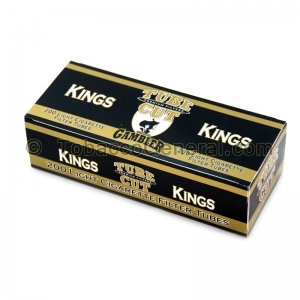 Gambler Tube Cut Filter Tubes King Size Gold (Light) 5 Cartons of 200