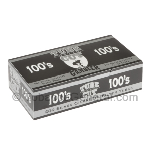 Gambler Tube Cut Filter Tubes 100 mm Silver 5 Cartons of 200