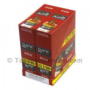 Game Cigarillos Foil 2 for 99 Cents 30 Packs of 2 Cigars Red