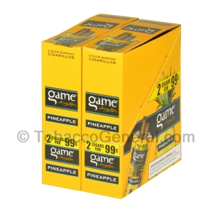 Game Cigarillos Foil 2 for 99 Cents 30 Packs of 2 Cigars Pineapple