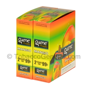 Game Cigarillos Foil 2 for 99 Cents 30 Packs of 2 Cigars Mango