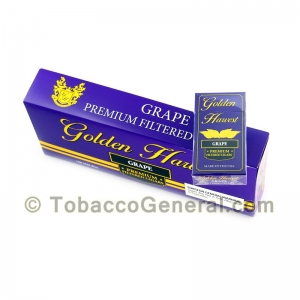 Golden Harvest Grape Filtered Cigars 10 Packs of 20