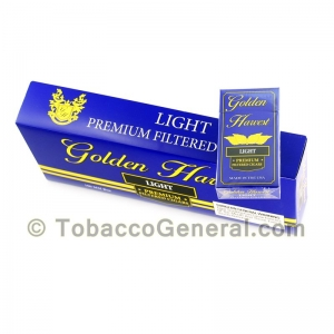 Golden Harvest Light Filtered Cigars 10 Packs of 20