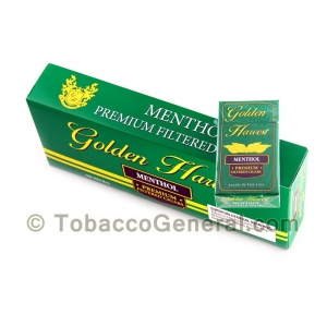Golden Harvest Menthol Filtered Cigars 10 Packs of 20