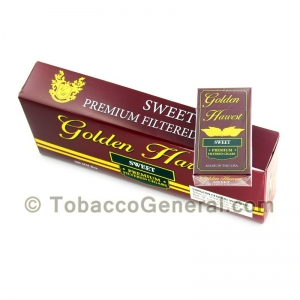 Golden Harvest Sweet Filtered Cigars 10 Packs of 20