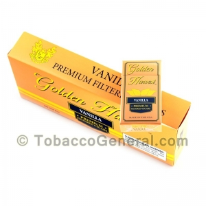 Golden Harvest Vanilla Filtered Cigars 10 Packs of 20