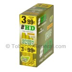 Good Times HD Cigarillos Green Sweet 3 for 99 Cents Pre Priced 15 Packs of 3