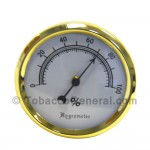 Hygrometer Analog Brass Pack of 1 - Cigar Accessories