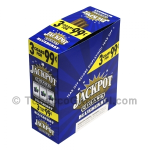 Jackpot Cigarillos 99 Cents Pre Priced 15 Packs of 3 Cigars Blueberry