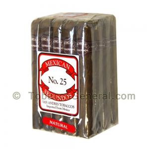 Mexican Segundos No. 25 Natural Cigars Pack of 20