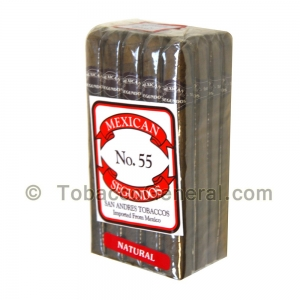 Mexican Segundos No. 55 Natural Cigars Pack of 20