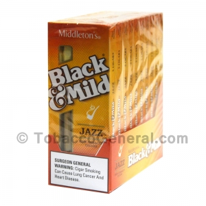 Middleton's Black & Mild Jazz Cigars 10 Packs of 5