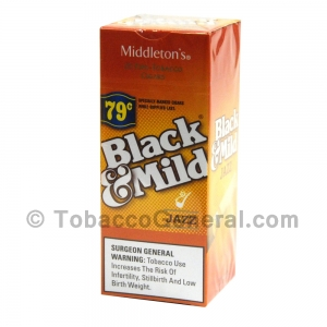 Middleton's Black & Mild Jazz 79 Cents Per Cigar Pre-Priced Promotion  Box of 25