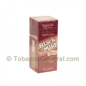 Middleton's Black & Mild Wine Cigars Box of 25