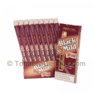 Middleton's Black & Mild Wine Cigars 10 Packs of 5
