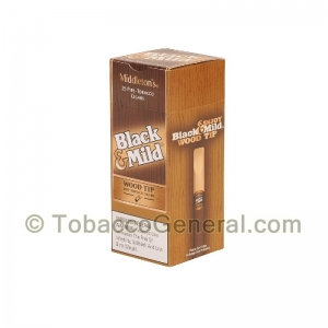 Middleton's Black & Mild Wood Tip Cigars Box of 25