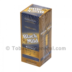 Middleton's Black & Mild Wood Tip Royale Cigars Box of 25
