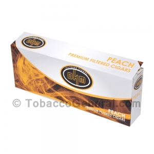 OHM Peach Filtered Cigars 10 Packs of 20
