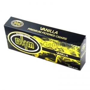 OHM Vanilla Filtered Cigars 10 Packs of 20