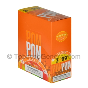 Pom Pom Cigarillos 99 Cent Pre Priced 15 Packs of 3 Cigars Glazed