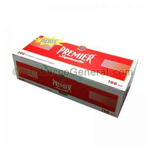 Premier Filter Tubes 100 mm Full Flavor 5 Cartons of 200
