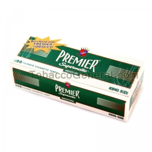Premier Filter Tubes King Size Menthol 5 Cartons of 200