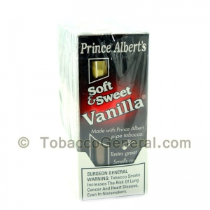 Prince Albert Soft Sweet Vanilla Cigars 10 Packs of 5