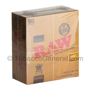 RAW Classic Papers King Size Slim Pack of 50