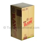 RAW Organic Pre Rolled 1 1/4 Cones 32 Packs of