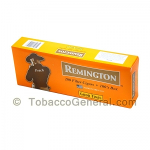 Remington Peach Filtered Cigars 10 Packs of 20