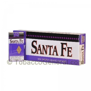 Santa Fe Filtered Cigars 10 Packs of 20 Grape